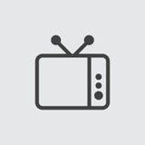 Ejemplo del icono de la TV Imágenes de archivo libres de regalías