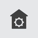 Ejemplo del icono del ajuste Imagenes de archivo