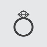 Ejemplo del icono del anillo Fotos de archivo