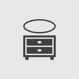 Ejemplo del icono del armario Imagen de archivo libre de regalías