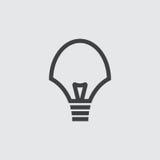 Ejemplo del icono del bulbo Fotografía de archivo