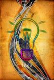 Ejemplo del icono del bulbo de la idea Fotos de archivo