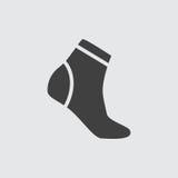 Ejemplo del icono del calcetín Fotos de archivo libres de regalías