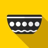 Ejemplo del icono del cuenco Imagen de archivo