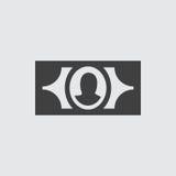 Ejemplo del icono del dinero Imágenes de archivo libres de regalías