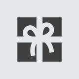 Ejemplo del icono del regalo Imagen de archivo