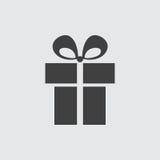 Ejemplo del icono del regalo Fotografía de archivo libre de regalías