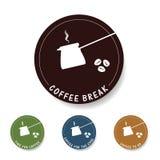 Ejemplo del icono del descanso para tomar café Imagen de archivo