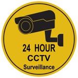 Ejemplo del icono del reloj de la cámara CCTV de la seguridad libre illustration