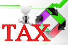 ejemplo del impuesto del hombre 3d Foto de archivo libre de regalías