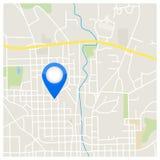Ejemplo del indicador del mapa de la ciudad Fotos de archivo libres de regalías