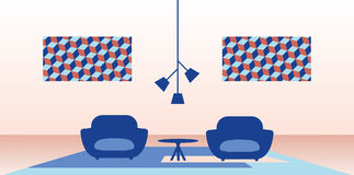 Ejemplo del interior casero moderno libre illustration