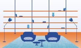 Ejemplo del interior casero moderno stock de ilustración