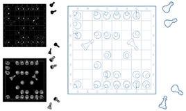 Ejemplo del juego de ajedrez aislado en el vector blanco Fotografía de archivo libre de regalías