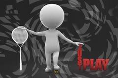 ejemplo del juego del hombre 3d apenas Imagen de archivo libre de regalías