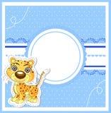 Ejemplo del león lindo en fondo decorativo Fotografía de archivo libre de regalías