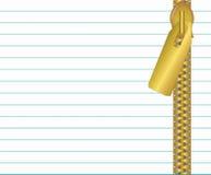 Ejemplo del Libro Blanco con la cremallera Imagen de archivo