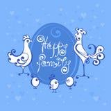 Ejemplo del logotipo del vector de la familia feliz stock de ilustración