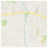 Ejemplo del mapa de la ciudad Imagen de archivo