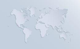 Ejemplo del mapa del mundo del vector libre illustration