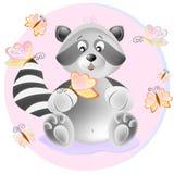 Ejemplo del mapache stock de ilustración