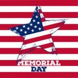 Ejemplo del Memorial Day Fotos de archivo libres de regalías