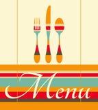 Ejemplo del menú del restaurante Foto de archivo