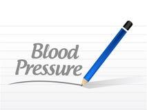 ejemplo del mensaje de la presión arterial Imagenes de archivo