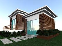 Ejemplo del modelo de la casa ilustración del vector