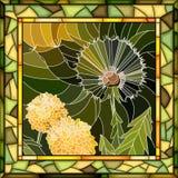 Ejemplo del mosaico del vector del diente de león de la flor