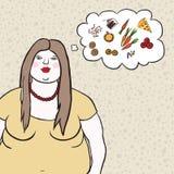Ejemplo del, mujer gorda del vector Fotografía de archivo