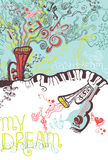 Ejemplo del musical de la fantasía. Foto de archivo libre de regalías