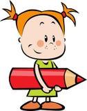Ejemplo del niño con el lápiz - niña ho libre illustration