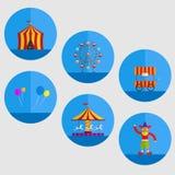 Ejemplo del objeto de la historieta del carnaval ilustración del vector