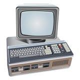 Ejemplo del ordenador retro aislado Fotografía de archivo