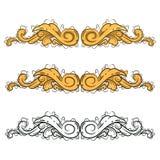 Ejemplo del ornamento con un estilo del árbol stock de ilustración