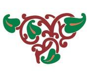 Ejemplo del ornamento del extracto de la decoración del corazón stock de ilustración