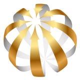 Icono de las flechas del oro Fotos de archivo libres de regalías