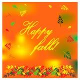 Ejemplo del otoño con diversas hojas coloridas Ilustración del vector Foto de archivo libre de regalías