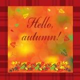Ejemplo del otoño con las hojas coloridas Ilustración del vector Imagenes de archivo