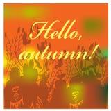 Ejemplo del otoño con las hojas coloridas Ilustración del vector Imagen de archivo
