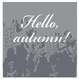 Ejemplo del otoño con las hojas Tarjeta de felicitación Iilustration del vector Fotos de archivo libres de regalías