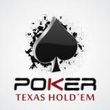Ejemplo del póker con efecto del grunge diseño 3D Fotografía de archivo