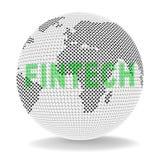 Ejemplo del pago 3d del World Wide Web del globo de Fintech ilustración del vector