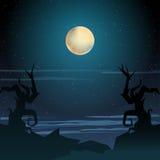 Ejemplo del paisaje de Halloween Imágenes de archivo libres de regalías