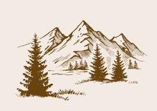 Ejemplo del paisaje de la montaña libre illustration