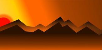 Ejemplo del paisaje en el vector de la puesta del sol - 2 libre illustration