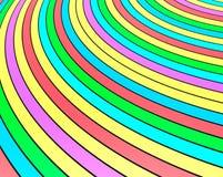 Ejemplo del papel pintado 3d del arco iris de las rayas del color ilustración del vector