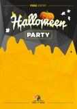 Ejemplo del partido de Halloween del vector Imagen de archivo libre de regalías