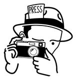 Ejemplo del periodista fotográfico Imagen de archivo libre de regalías